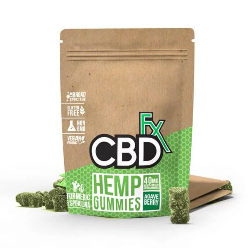 CBDfx CBD Gummy Bears Gummies with Turmeric and Spirulina for sale online coupon code binoid