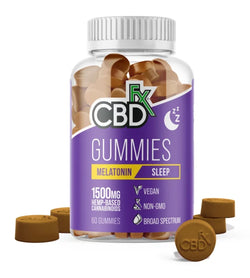 CBDfx CBD Gummies Melaton 1500mg for sale online discount Hemp Vegan