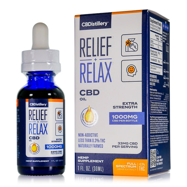 CBDistillery Relief and Relax CBD Oil 1000mg Extra Strength
