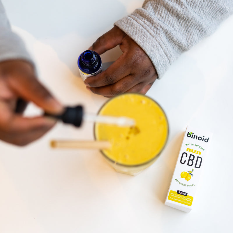Water-Soluble CBD Drops - Lemon
