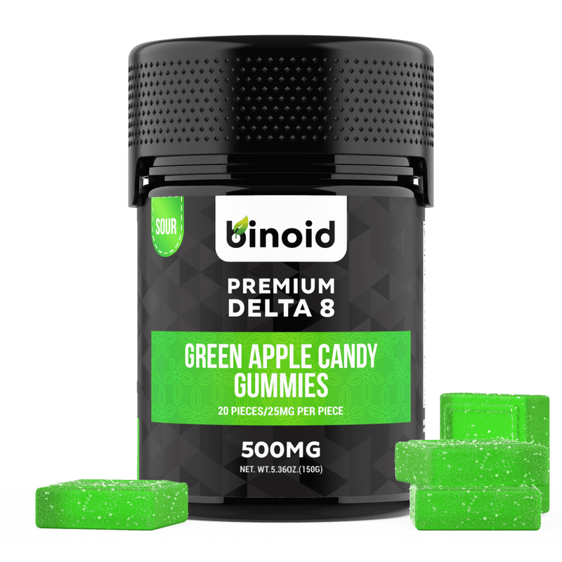 Delta 8 THC Gummies 500mg Green Apple Sour Candy Best Buy Online For Sale Discount Packaging