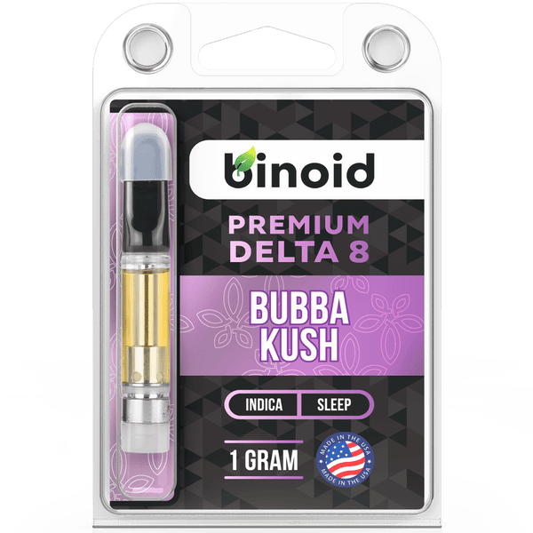 Buy Delta 8 THC Vape Cartridge Online Bubba Kush 1 gram Binoid For Sale best
