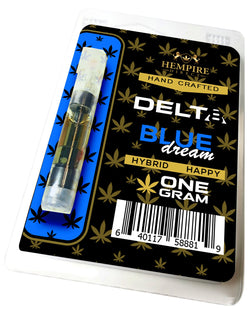 Hempire Direct Delta 8 THC Vape Cartridge Blue Dream Hybrid One Full Gram