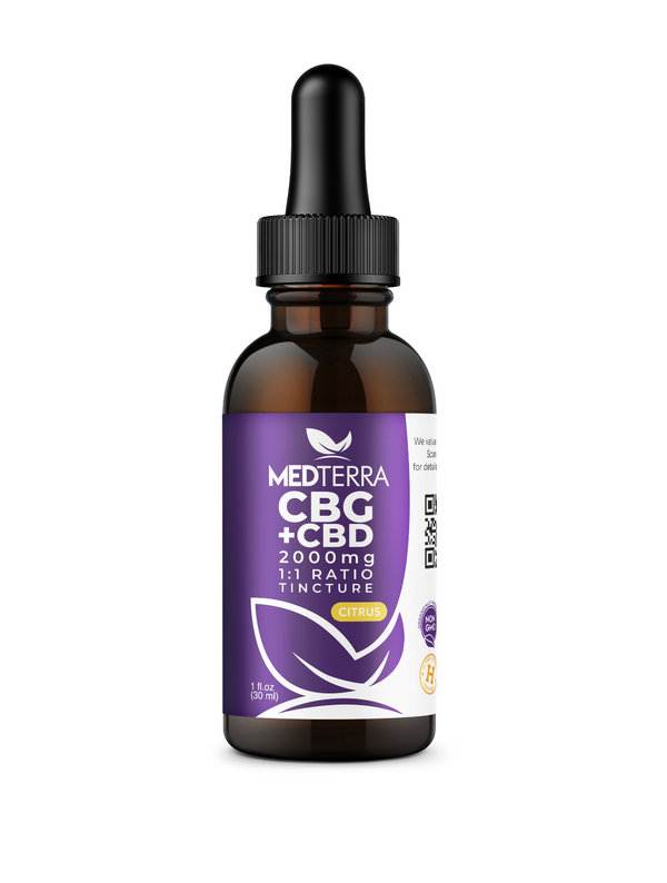 Medterra CBG Oil 2000mg Citrus CBD 1:1