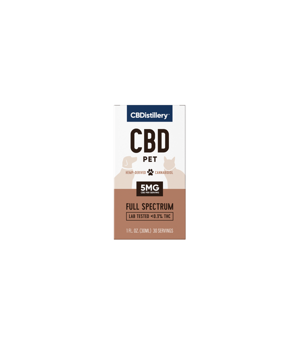 CBDistillery Pet CBD Oil 150mg For Dog Joints Sleep Pain Box