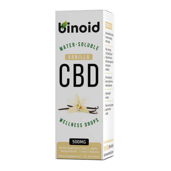 Water-Soluble CBD Oil Drops Vanilla Box Binoid 500mg