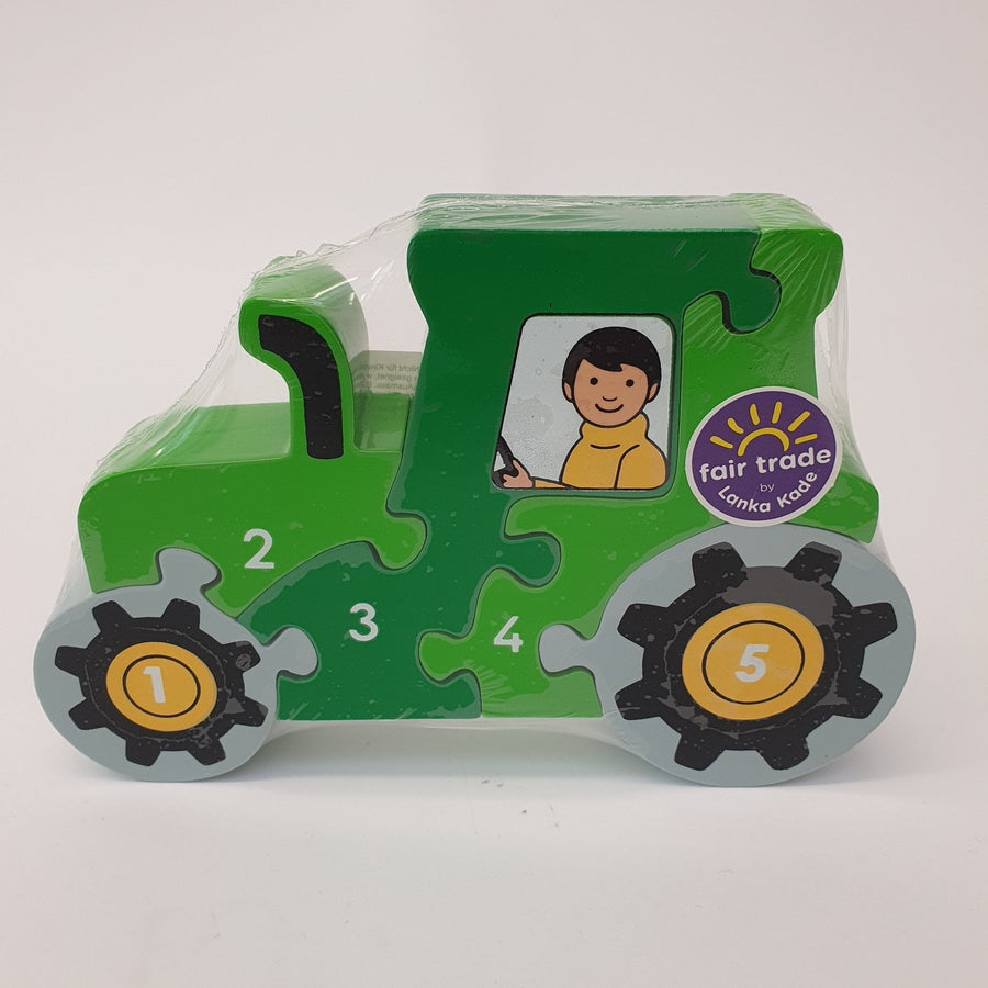 1-5 Wooden Puzzle - Tractor