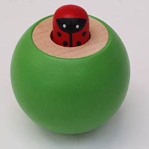 Wooden Squeaky Ball Green