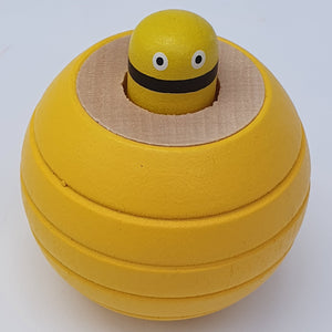 Wooden Squeaky Ball Yellow