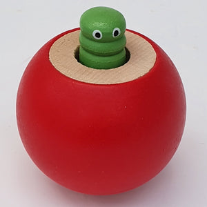 Wooden Squeaky Ball Red