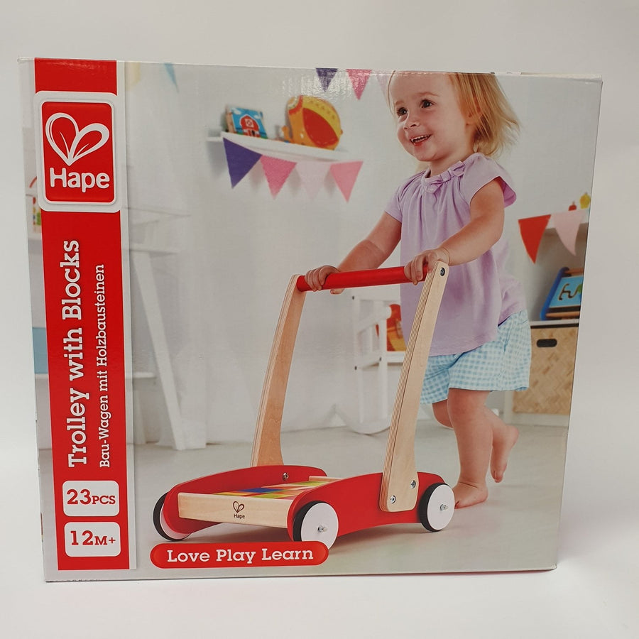 Hape Trolley With Blocks