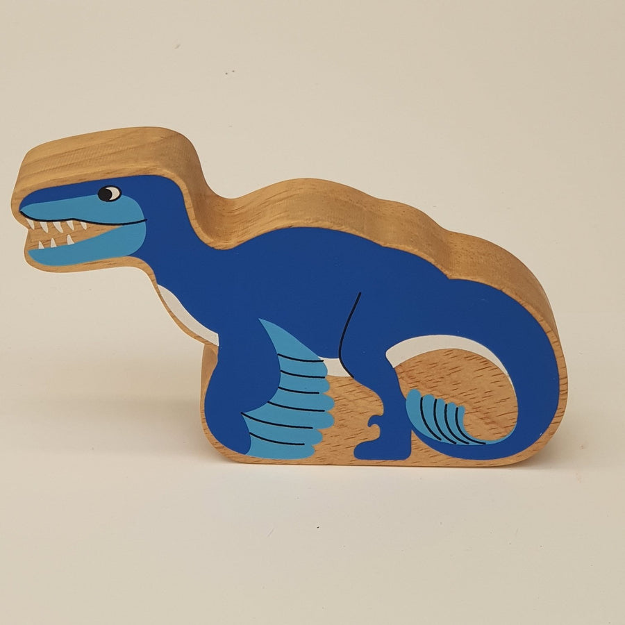 Wooden Blue Utahraptor
