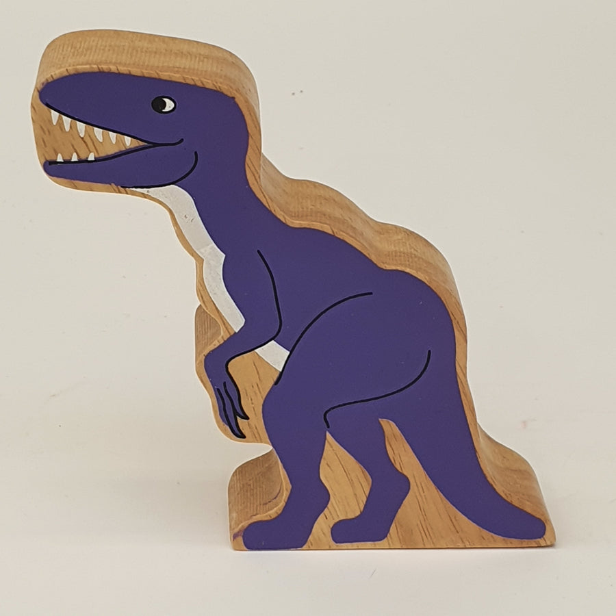 Wooden Purple Velociraptor