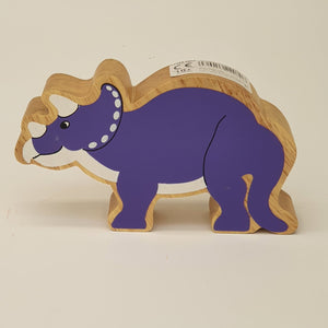 Wooden Purple Triceratops