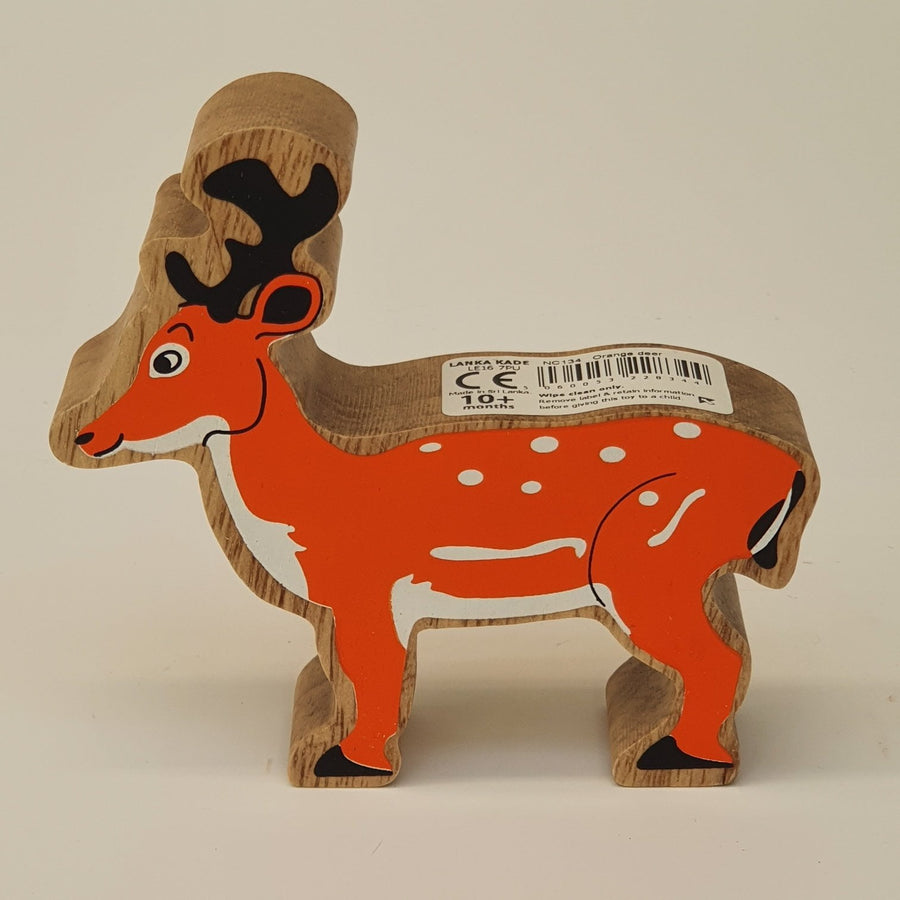 Wooden Orange Deer