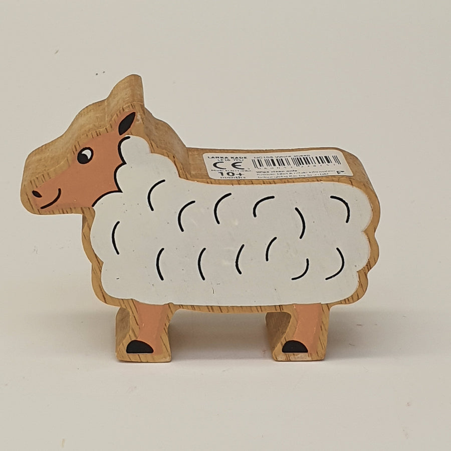 Wooden White Sheep
