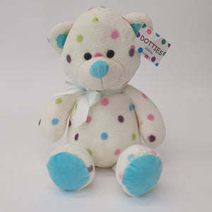 Bear Blue With Spots 25cm