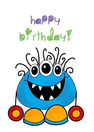 Gift Vouchers - Birthday Monster Card