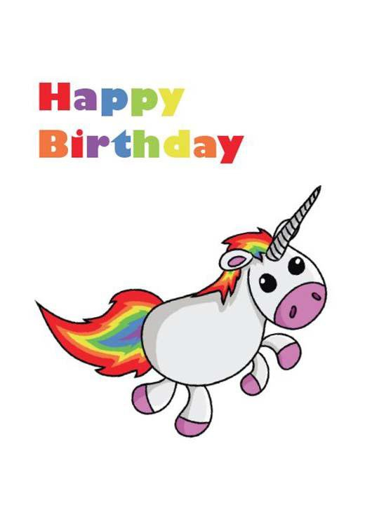 Gift Vouchers - Birthday Unicorn Card
