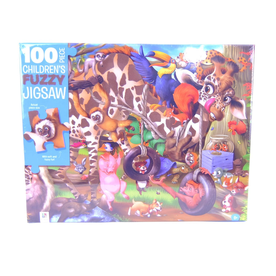 100pce Childrens Fuzzy Jigsaw