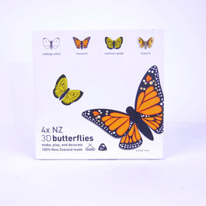 4x NZ 3D Butterflies
