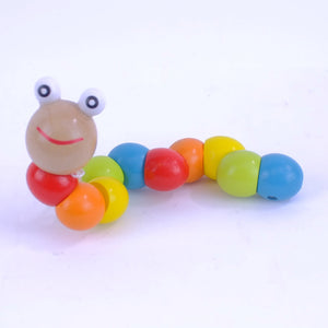 Wooden Rainbow Caterpiller