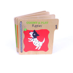 Count & Play Puppies Wooden Bk