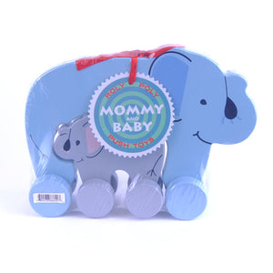 Mommy & Baby Push Toy Elephant