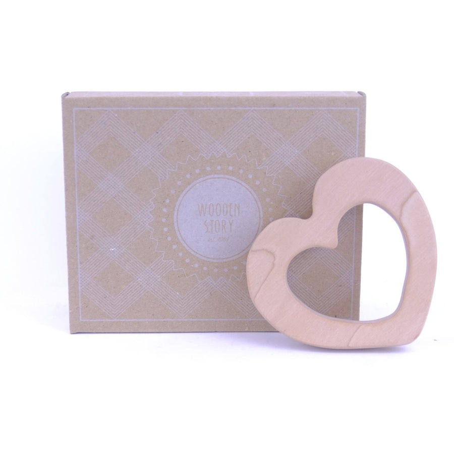 Wooden Story Teether - Heart
