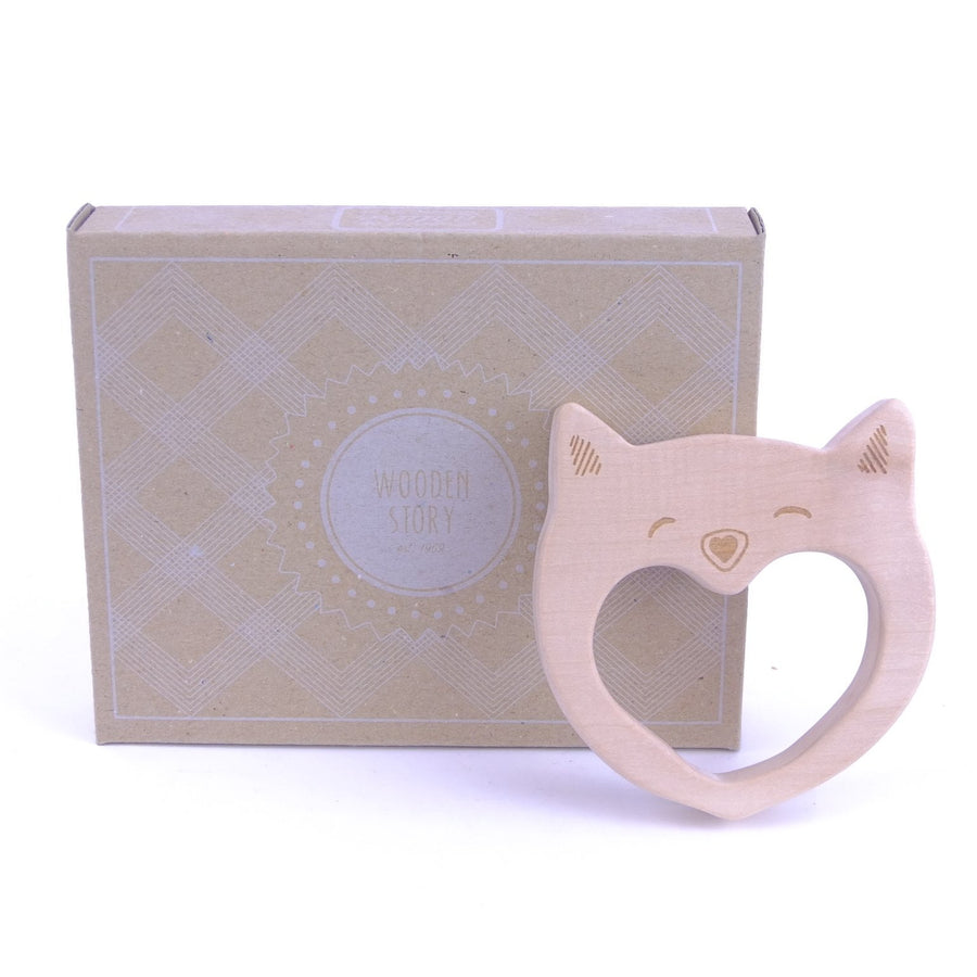Wooden Story Teether - Cat