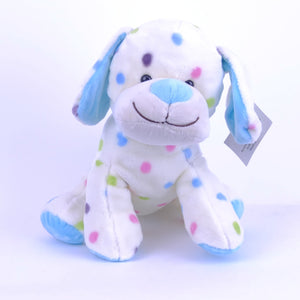 Dog Blue With Spots 25cm