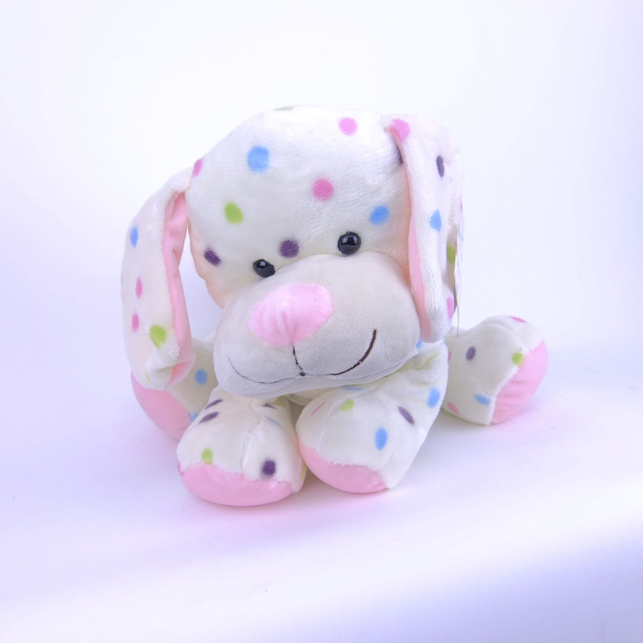 Dog Pink With Dots 30cm