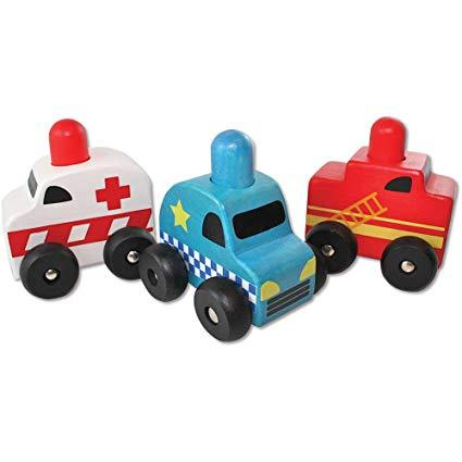 Squeaker Emergency Cars Set