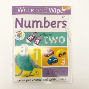 Write and Wipe Numbers Book