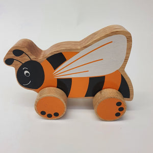 Wooden Bee Push Along