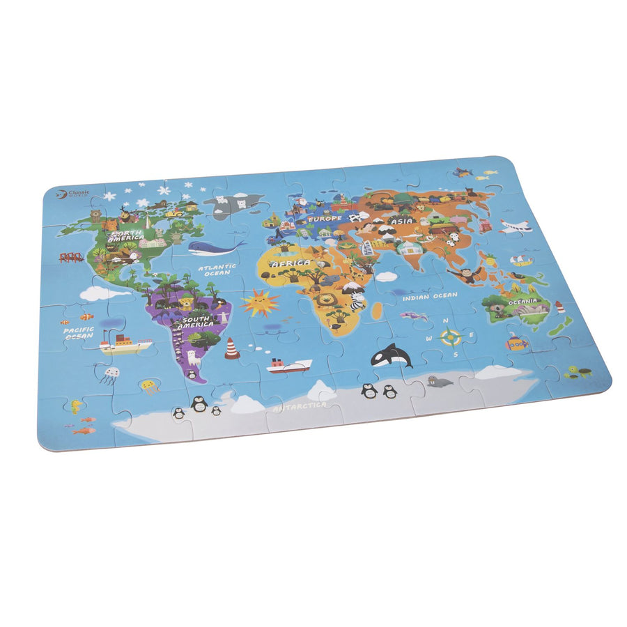 World Map Jigsaw Puzzle 48pce