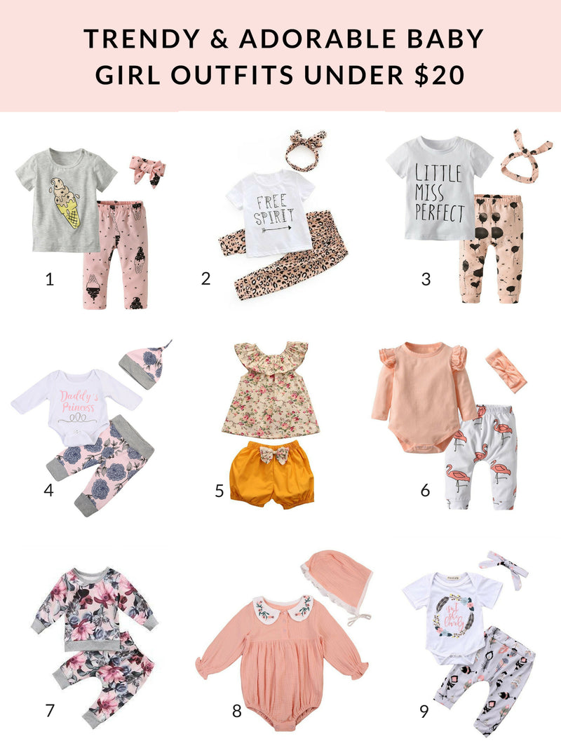 trendy and adorable baby outfits under $20
