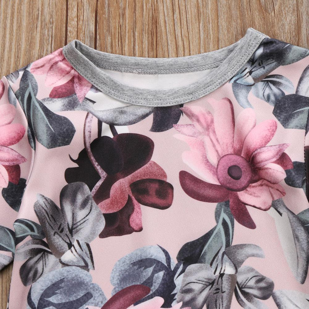 b9f79567eca84 2-Pcs Baby Girls Floral Long Sleeve Top And Pants Outfit