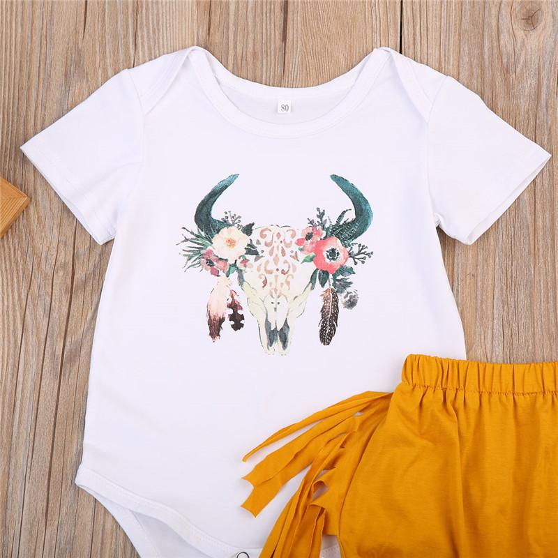 2-Piece Floral Antlers Bodysuit With Boomers