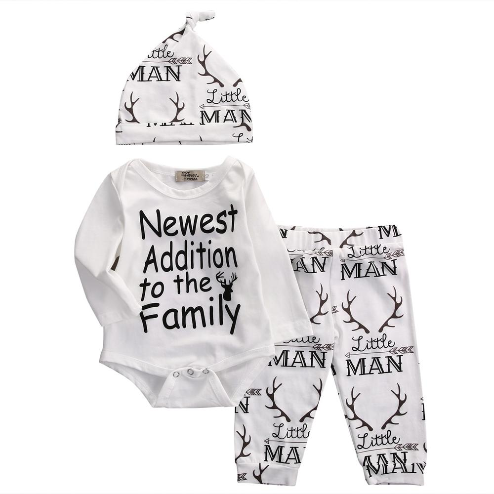 Baby Boy 3-Pcs Deer Hat, Bodysuit & Pants Gift Set
