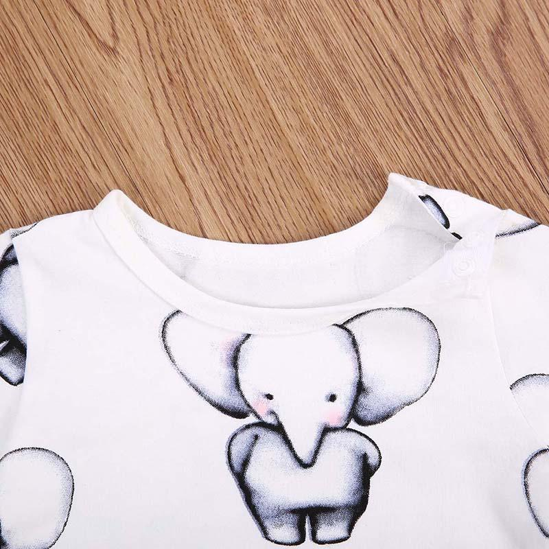 Baby Elephants long sleeve onesie