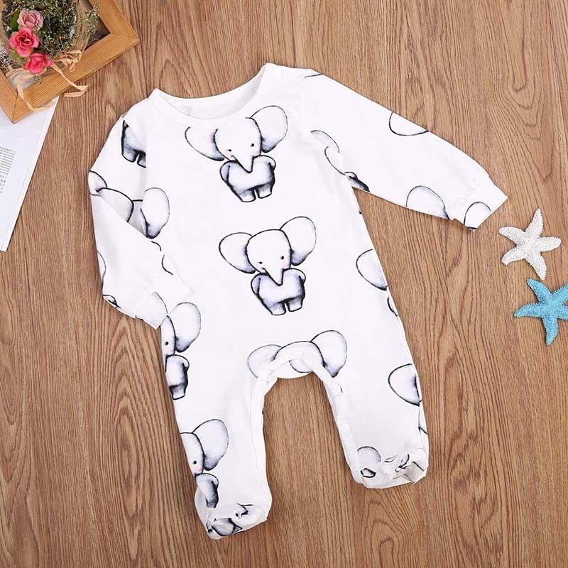 Baby Elephants Footed Sleep & Play romper