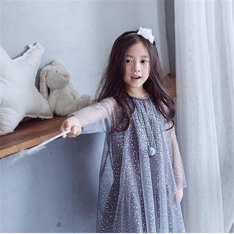 Girl's Grey Tulle Princess Dress