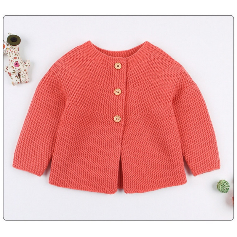 Baby Girls Long Sleeve Knitted Cardigan Jacket