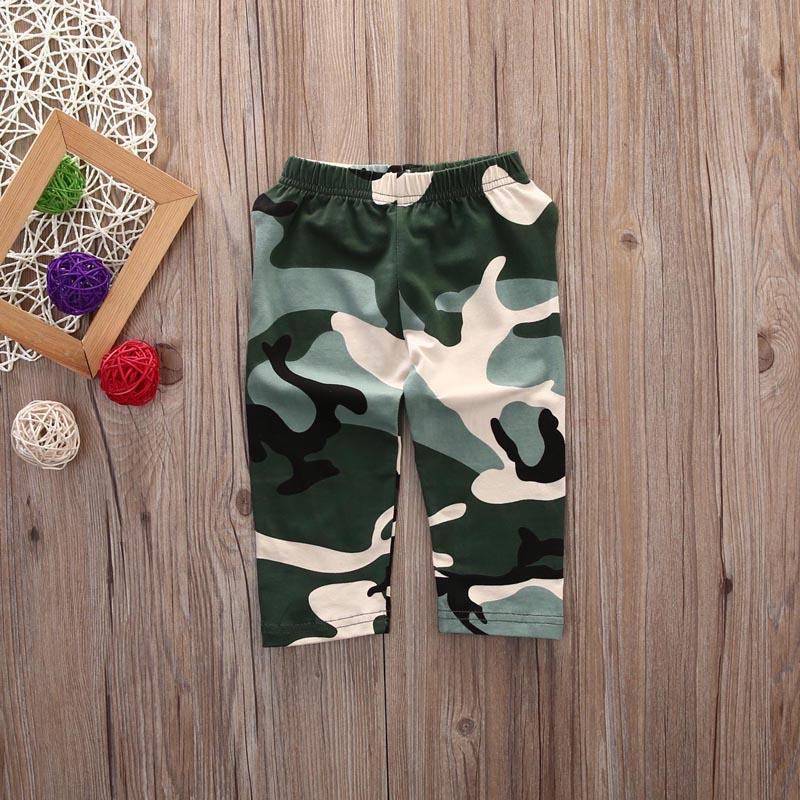 Boy's 2Pcs Camouflage Outfits Set