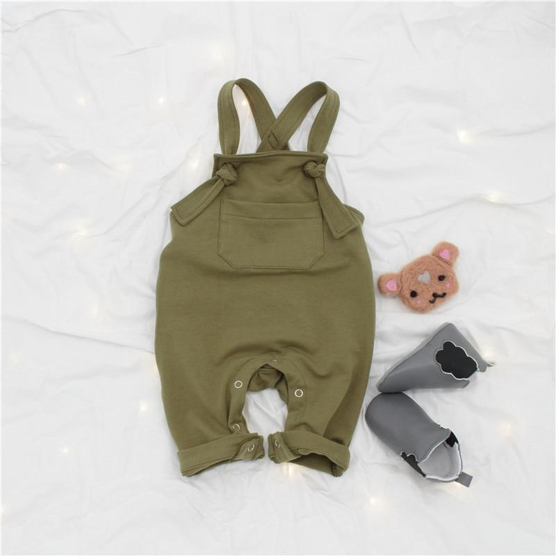 Cotton Overalls For Baby & Toddler -green
