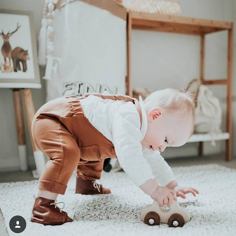 Cotton Overalls For Baby & Toddler - brown