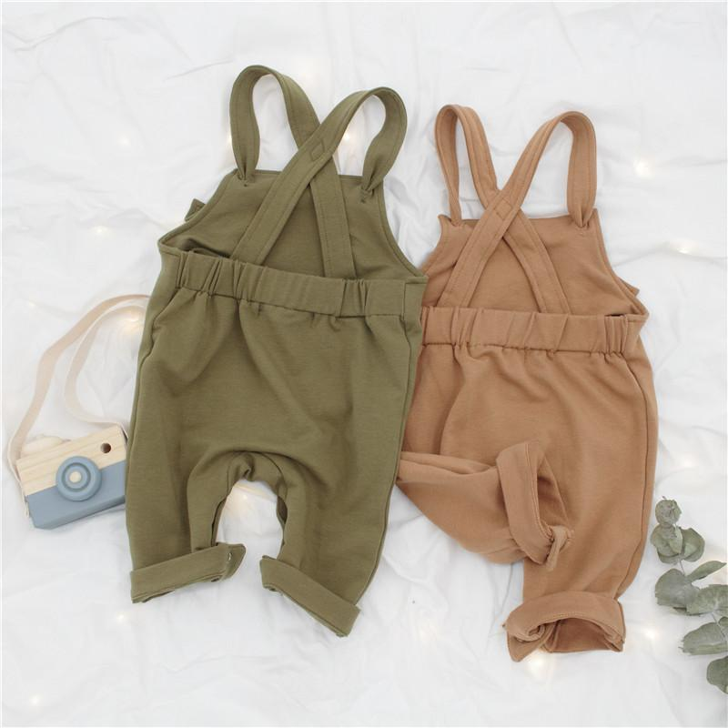 Toddler Boy Cotton Overalls