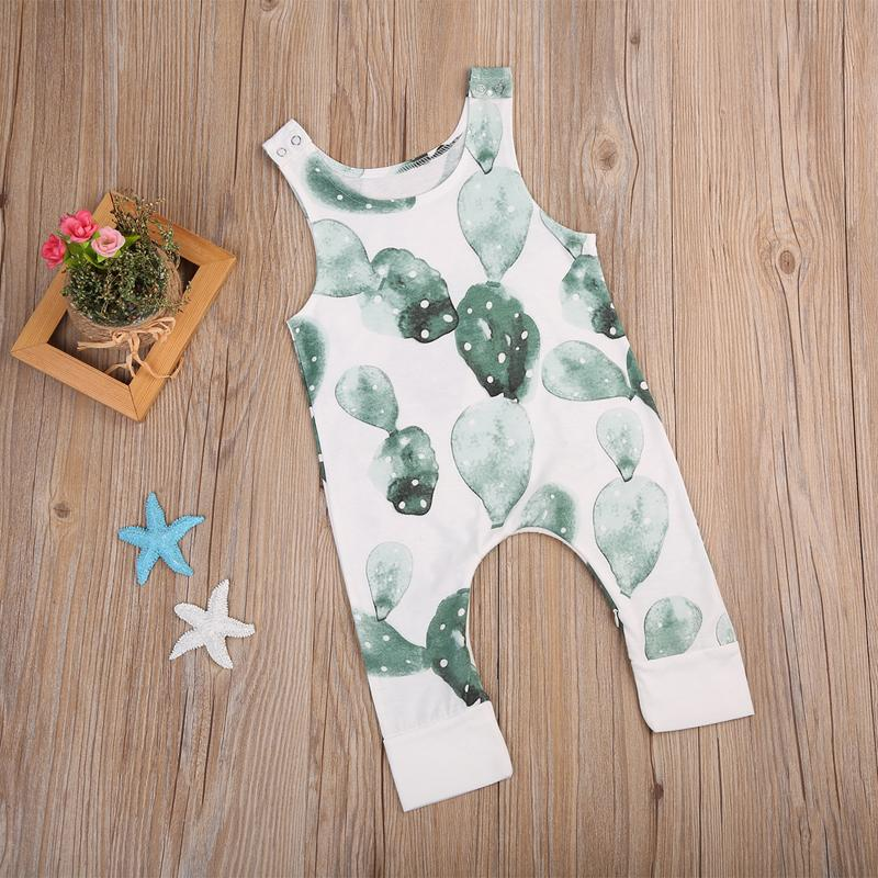 Cute Floral Romper For Baby - cactus