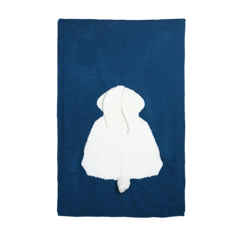 Cute Rabbit Ear Baby Knitted Blanket